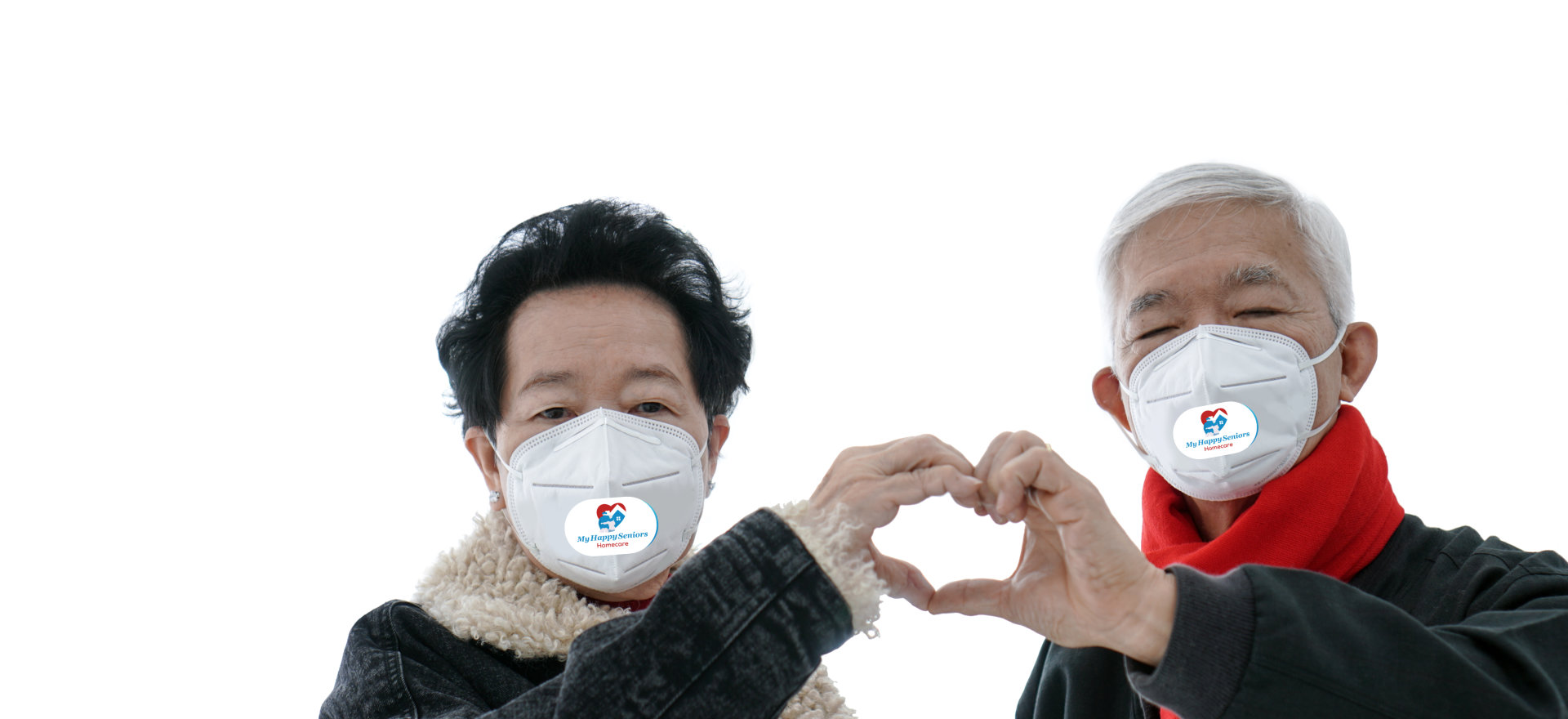 couple forming heart in hands